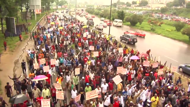 opposition in ivory coast gathered less than a thousand people in abidjan on saturday after their call to protest against a political situation... - côte d'ivoire stock videos & royalty-free footage