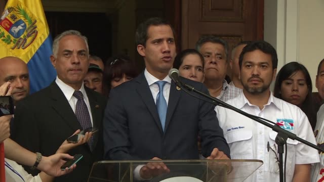 opposition leader juan guaido says that the implementation of the roldos doctrine an agreement between the andean countries that considers the joint... - human joint stock videos & royalty-free footage