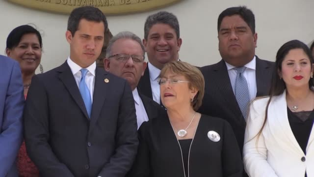 Opposition leader Juan Guaido says UN High Commissioner for Human Rights Michelle Bachelet has urged Venezuelan government to release the country's...
