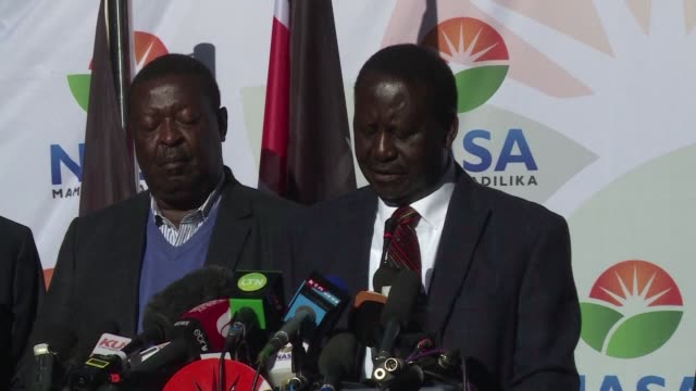 opposition leader raila odinga says he will take his claims that kenya's presidential election was rigged to the supreme court after previously... - raila odinga stock videos and b-roll footage
