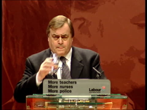 opposition to iraq war continues pool glasgow john prescott mp along to podium during labour party conference john prescott mp speech sot they called... - weapons of mass destruction stock videos and b-roll footage