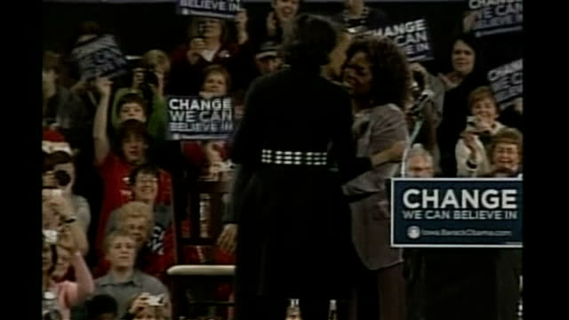 oprah appearing at rally with barack obama - oprah winfrey stock videos & royalty-free footage