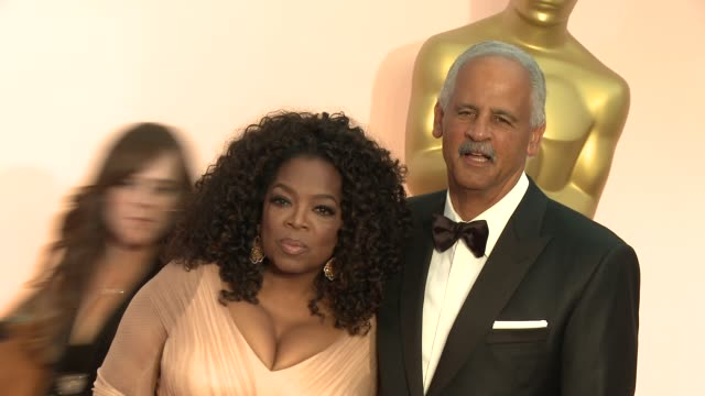 oprah winfrey and stedman graham at 87th annual academy awards arrivals at dolby theatre on february 22 2015 in hollywood california - oprah winfrey stock videos & royalty-free footage