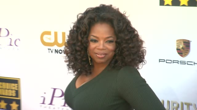 oprah winfrey at 19th annual critics' choice movie awards arrivals at the barker hanger on in santa monica california - oprah winfrey stock videos & royalty-free footage