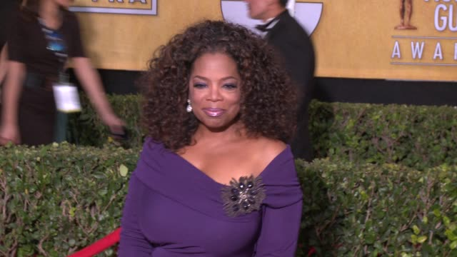oprah winfrey at 20th annual screen actors guild awards arrivals at the shrine auditorium on in los angeles california - oprah winfrey stock videos & royalty-free footage