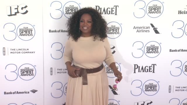oprah winfrey at 30th annual film independent spirit awards arrivals at santa monica beach on february 21 2015 in santa monica california - oprah winfrey stock videos & royalty-free footage