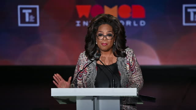 oprah winfrey at the 10th anniversary women in the world summit at david h koch theater at lincoln center on april 10 2019 in new york city video by - oprah winfrey stock videos & royalty-free footage