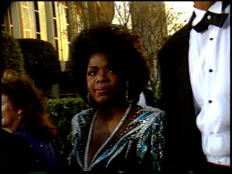 oprah winfrey at the 1987 academy awards at dorothy chandler pavilion in los angeles california on march 30 1987 - oprah winfrey stock videos & royalty-free footage