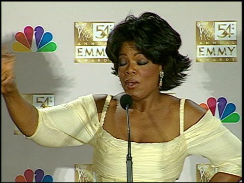 oprah winfrey at the 2002 emmy awards press room at the shrine auditorium in los angeles california on september 22 2002 - oprah winfrey stock videos & royalty-free footage