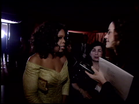 oprah winfrey at the 2005 academy awards ballroom at the kodak theatre in hollywood, california on february 27, 2005. - 77th annual academy awards stock videos & royalty-free footage