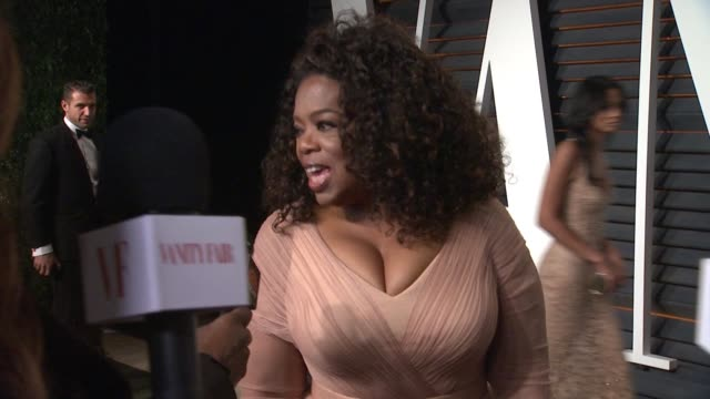 oprah winfrey at the 2015 vanity fair oscar party hosted by graydon carter at the wallis annenberg center for the performing arts on february 22 2015... - wallis annenberg center for the performing arts stock videos and b-roll footage