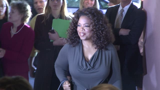 oprah winfrey at the hollywood reporter's annual women in entertainment breakfast at los angeles ca - oprah winfrey stock videos & royalty-free footage