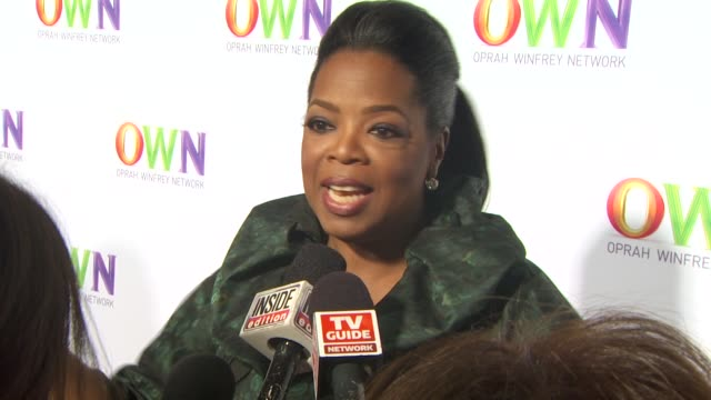 oprah winfrey network launch cocktail reception for the television critics association winter press tour at pasadena ca - oprah winfrey stock videos & royalty-free footage
