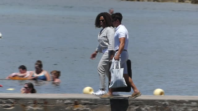 oprah winfrey enjoys a boat ride in her vacations in ibiza - oprah winfrey stock videos & royalty-free footage