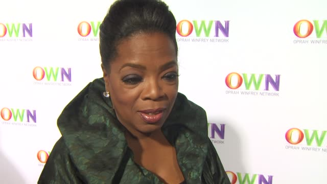own oprah winfrey network launch cocktail reception for the television critics association winter press tour los angeles ca united states 1/6/11 - kritiker stock-videos und b-roll-filmmaterial