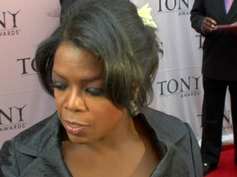 Oprah Winfrey on being nominated for something and not winning and some advice that Steven Spielberg gave her at the 60th Annual Tony Awards at Radio...