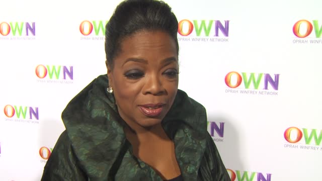 oprah winfrey on having the new network up and running what its like seeing her initials all over town what she'd like to conquer next at the own... - kritiker stock-videos und b-roll-filmmaterial