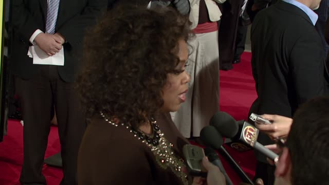 oprah winfrey on what denzel washington brought to the project sending cast members to debate camp the message of the film her reaction after she... - 2007 stock videos & royalty-free footage