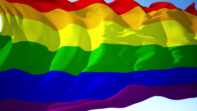 lgbtq or lgbt flag 4k loopable - rainbow flag stock videos and b-roll footage