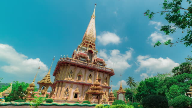 wat chaitharam or wat chalong temple in phuket thailand - temple body part stock videos and b-roll footage