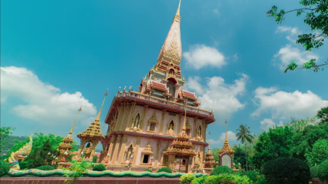 wat chaitharam or wat chalong temple in phuket thailand - pre columbian stock videos and b-roll footage
