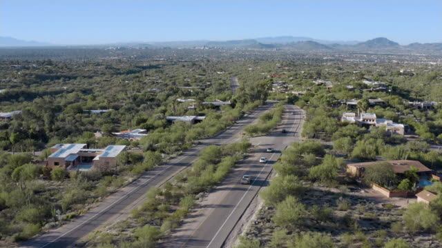 as oracle road in casas adobes in tucson, az - usa - wop productions stock-videos und b-roll-filmmaterial