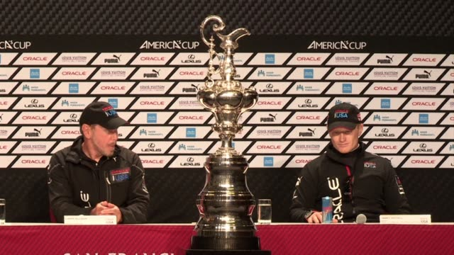 oracle team usa completes one of the greatest comebacks in sporting history to clinch the americas cup with victory over team new zealand in a... - oracle corporation stock-videos und b-roll-filmmaterial