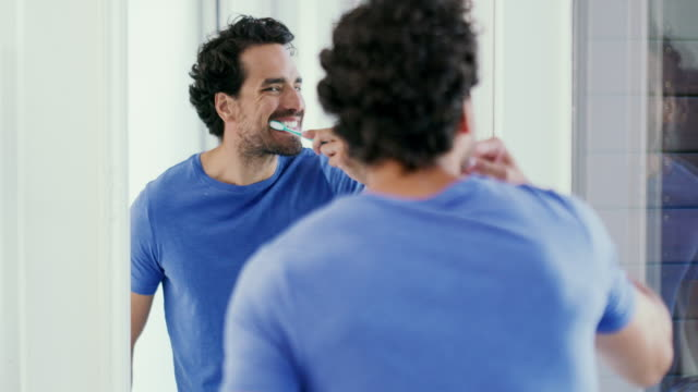 oral hygiene is number one - handsome people stock videos & royalty-free footage