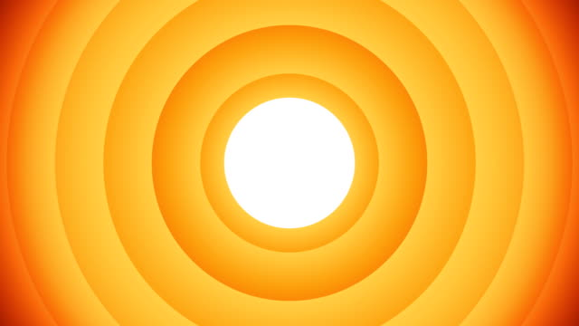 orange animated circular shapes with white background - concentric stock videos & royalty-free footage