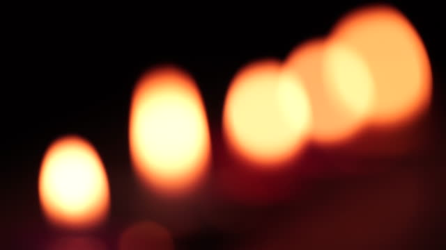 orange candle - candle stock videos & royalty-free footage