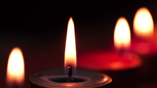 orange candle - candlelight stock videos & royalty-free footage
