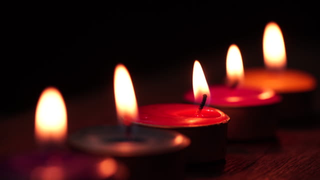 orange candle - candlelight stock videos and b-roll footage
