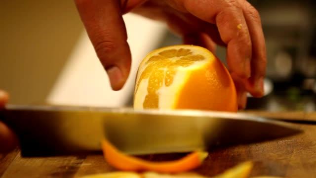 オレンジのチョップ - バージニア州 オレンジ市点の映像素材/bロール