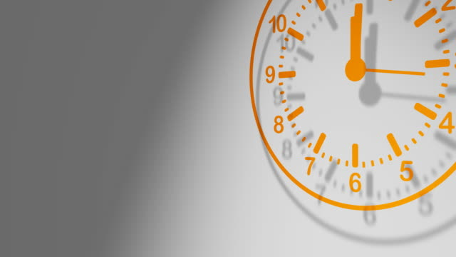 orange clock 24 hours - 24 hrs stock videos and b-roll footage