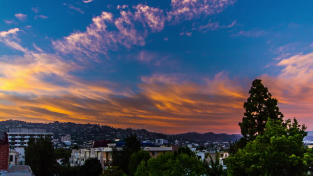 Orange Clouded Sunset - Sunset Blvd & Hollywood Hills