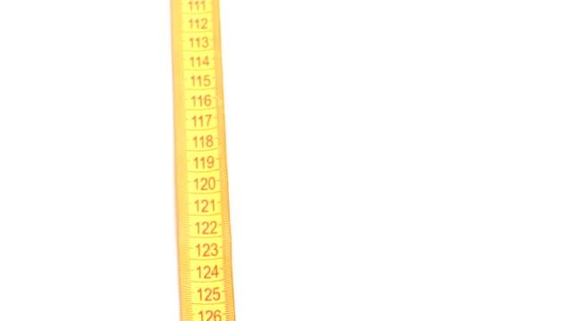 orange diet - tape measure stock videos & royalty-free footage