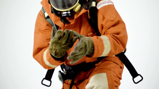 orange fire uniform - suit stock videos & royalty-free footage