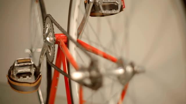 orange fixie - saddle stock videos & royalty-free footage