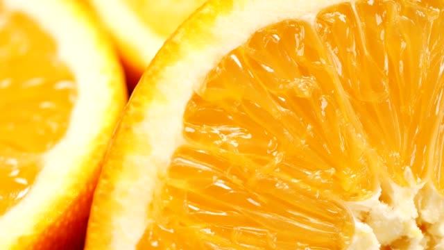 vídeos de stock e filmes b-roll de orange fruit macro - orange