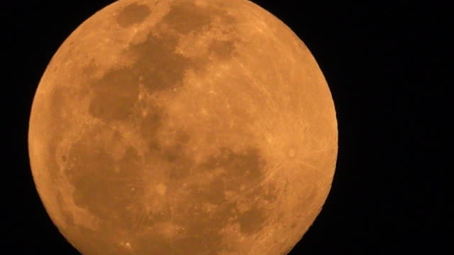 orange full moon - full moon stock videos & royalty-free footage
