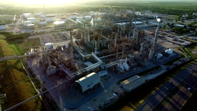 Orange Grove Texas Petrochemical Oil Refinery Creating Dirty Energy Fossil Fuel Industrial Revolution
