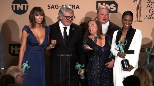 interview orange is the new black cast at 22nd annual screen actors guild awards press room in los angeles ca - cast member stock videos & royalty-free footage