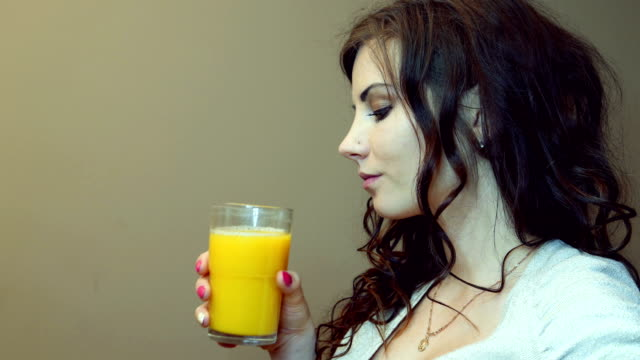 orange juice for the pregnant woman - ascorbic acid stock videos & royalty-free footage