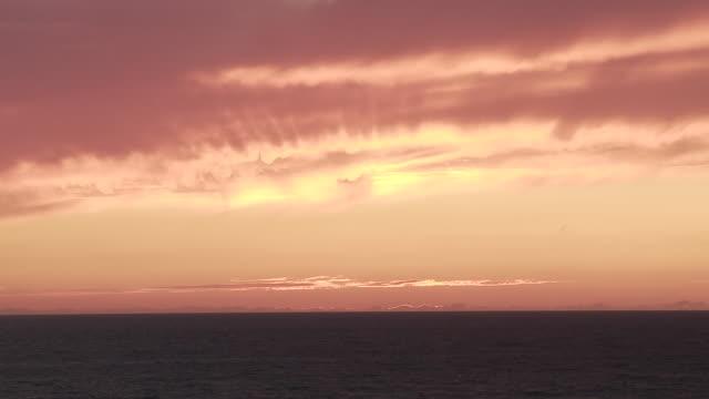 WS Orange sky after sunset in Southern France / Cap de l'Homy, Aquitaine, France