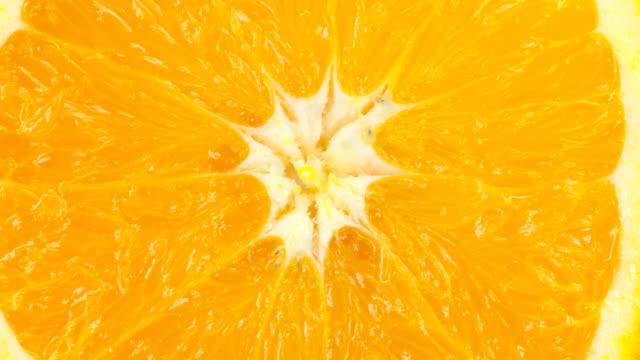 orange slice on white - slice stock videos and b-roll footage
