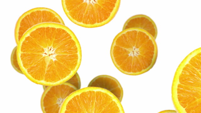 orange slices - citrus fruit stock videos and b-roll footage