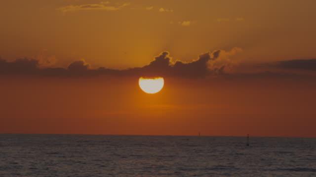 Orange sunrise at Mediterranean Sea