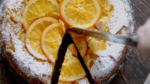 orange tart - tart dessert stock videos & royalty-free footage