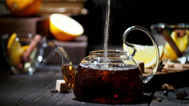 orange tea - pouring stock videos & royalty-free footage