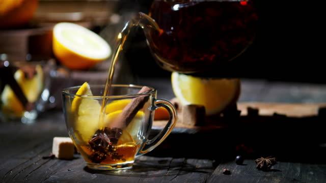 orange tea - sugar cube stock videos & royalty-free footage